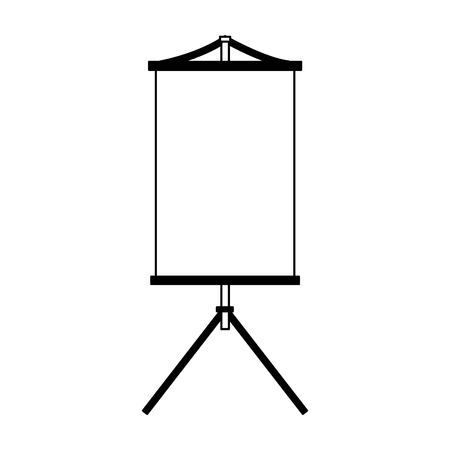 Blank whiteboard isolated vector illustration graphic design