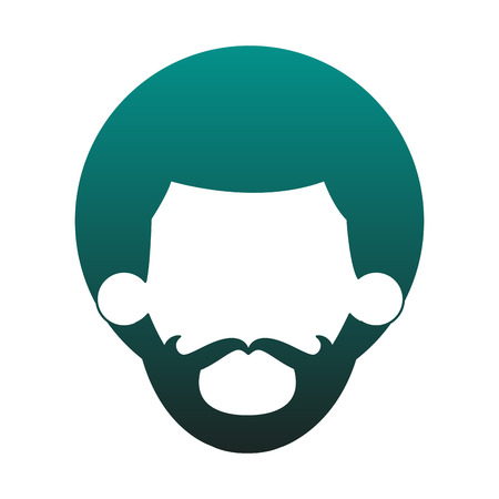 Afro man faceless head vector illustration graphic design Vecteurs