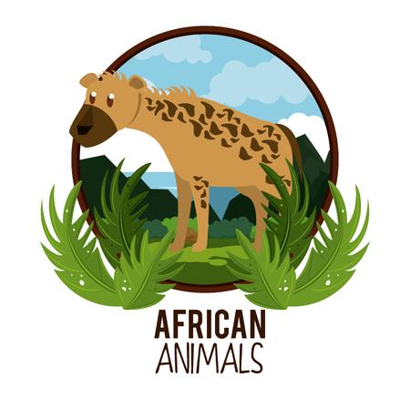 Hyena african animal cartoon vector illustration graphic design Illustration