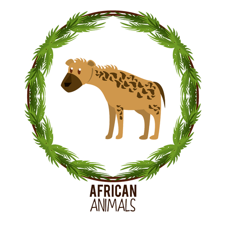 Hyena african animal cartoon vector illustration graphic design Illustration