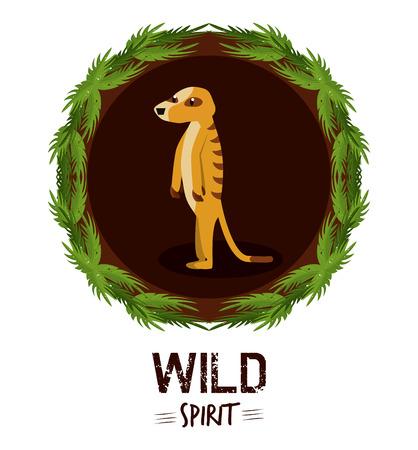 Meerkat wild african animal vector illustration graphic design Illustration