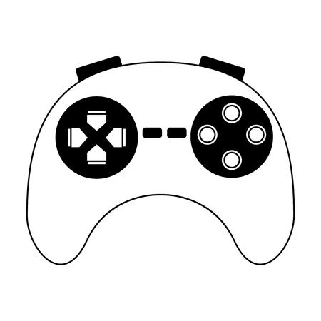Videogame console gamepad vector illustration graphic design