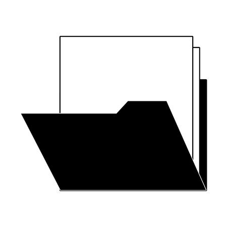 Folder with documents vector illustration graphic design Stock Illustratie
