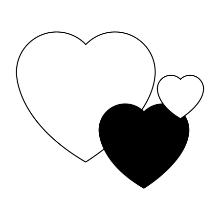 Hearts love symbol vector illustration graphic design