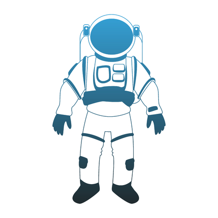 Astronaut wear profile vector illustration graphic design