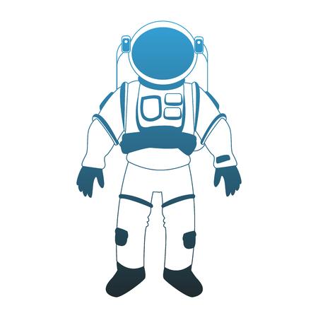 Astronaut wear profile vector illustration graphic design