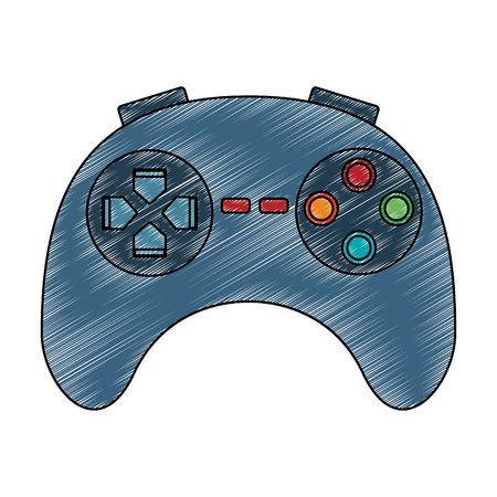 Videogame console gamepad vector illustration graphic design