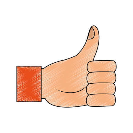 Thumb up hand sign vector illustration graphic design