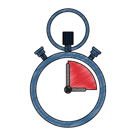 Vintage chronometer timer vector illustration graphic design
