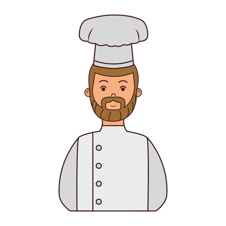 Male chef avatar vector illustration graphic design