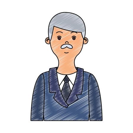 Businessman profile cartoon vector illustration graphic design Illustration