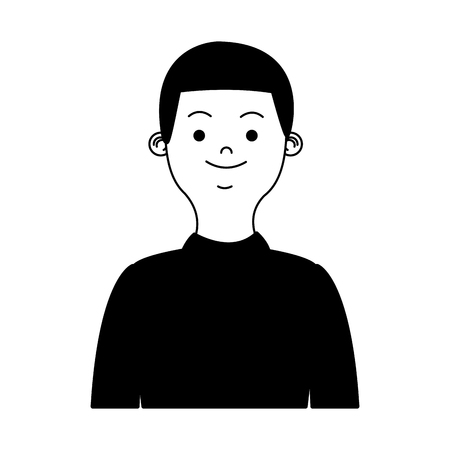 Young man profile vector illustration graphic design