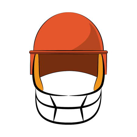 Football sport helmet vector illustration graphic design