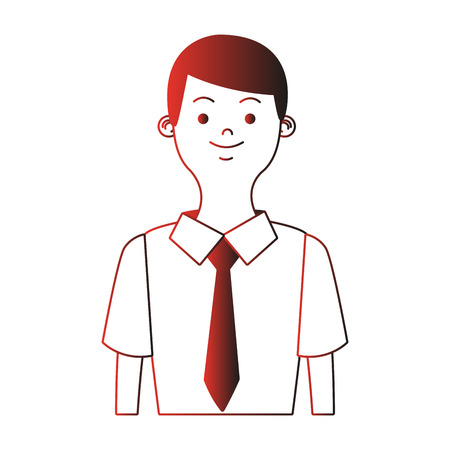 Young businessman profile vector illustration graphic design