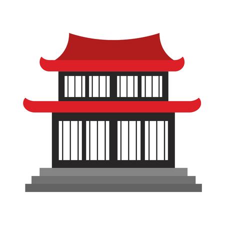 Chinese temple symbol vector illustration graphic design Ilustração