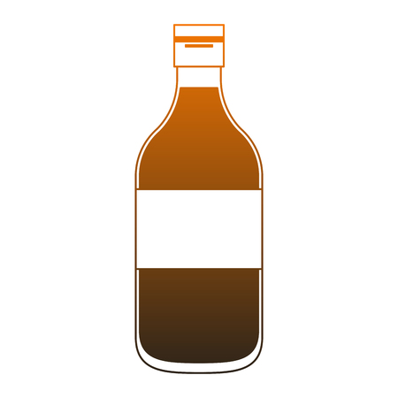 Milk bottle isolated vector illustration graphic design Ilustração