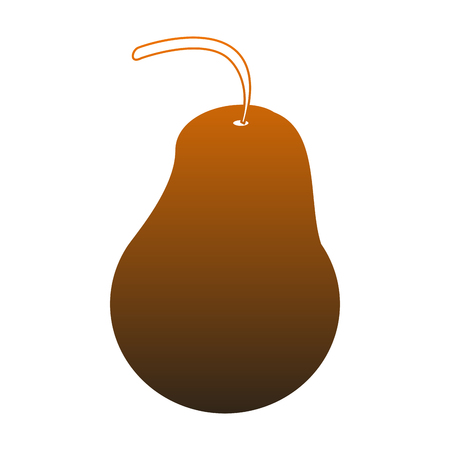 Pear fruit isolated vector illustration graphic design