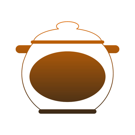 Kitchen pot isolated vector illustration graphic design