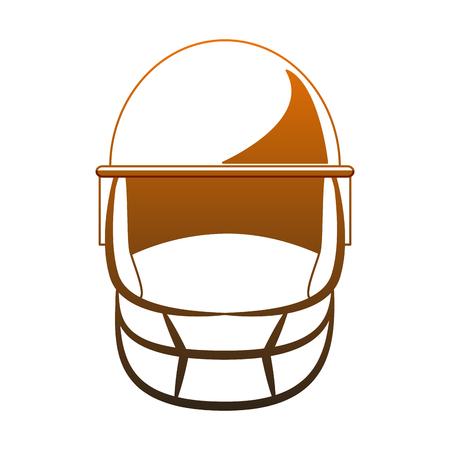 Football sport helmet vector illustration graphic design