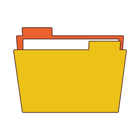 Folder document symbol vector illustration graphic design