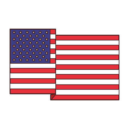 USA flag symbol vector illustration graphic design
