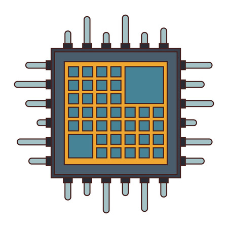 microchip processor technology vector illustration graphic design
