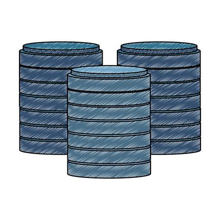 Storage disks symbol vector illustration graphic design Illustration