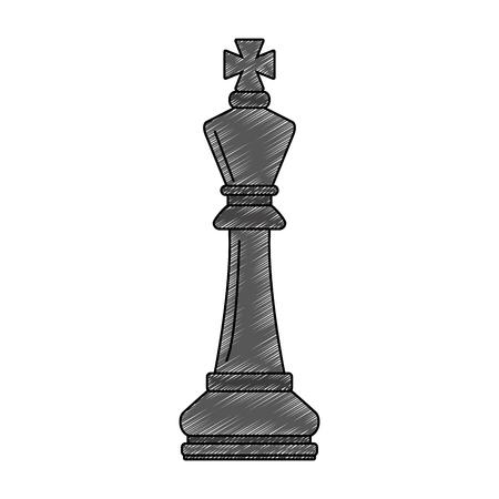 Grafikdesign der Schachspielstückvektorillustration