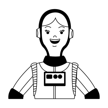 Woman astronaut cartoon vector illustration graphic design
