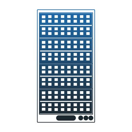 Server tower technology vector illustration graphic design