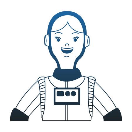 Woman astronaut cartoon vector illustration graphic design
