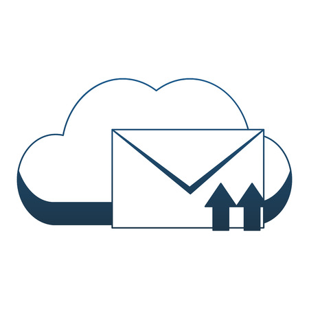 Cloud computing and email vector illustration graphic design
