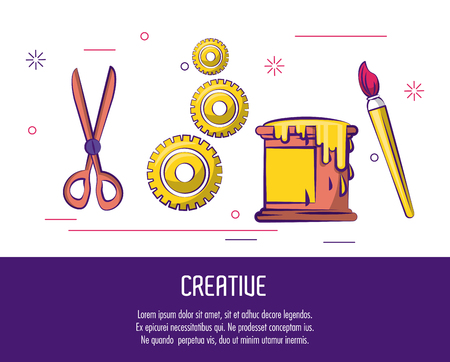 Creative colors and ideas poster with infomation vector illustration graphic design