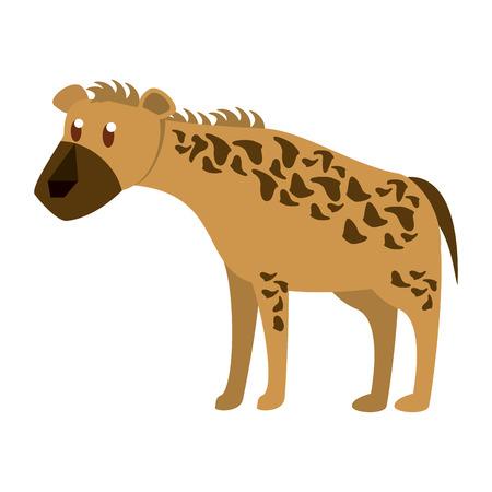 Hyena wild animal vector illustration graphic design Illustration