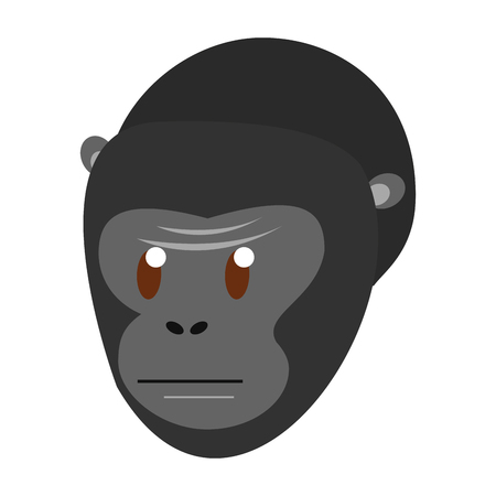 Ape wild animal head vector illustration graphic design