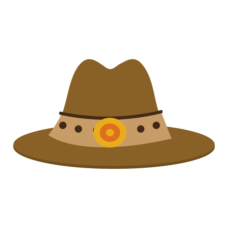 Cowboy hat symbol vector illustration graphic design