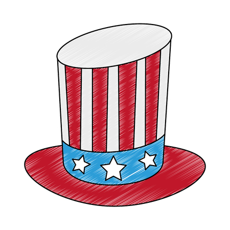 Uncle sam hat vector illustration graphic design