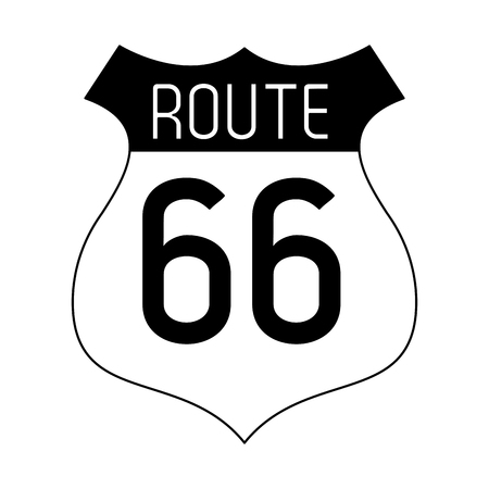 Route 66 roadsign symbol vector illustration graphic design