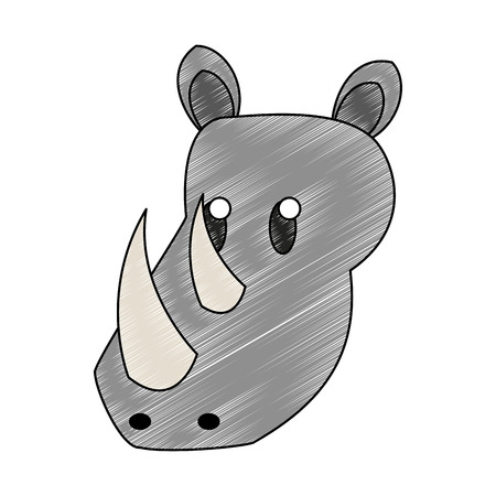 Rhino wild animal vector illustration graphic design