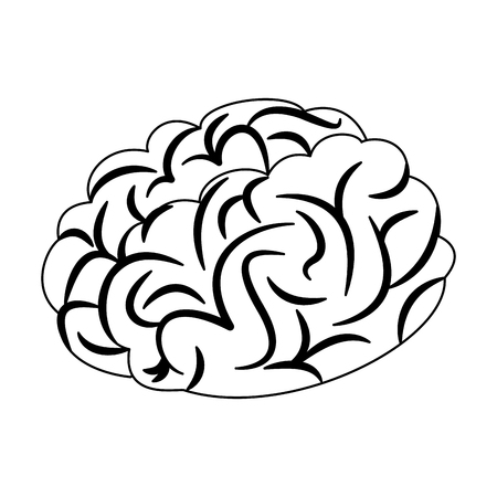 Human brain cartoon vector illustration graphic design