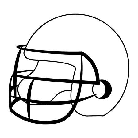 Football helmet isolated vector illustration graphic design