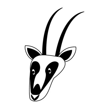 Antelope wild animal vector illustration graphic design