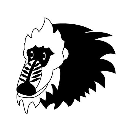 Mandrill wild animal vector illustration graphic design Ilustrace