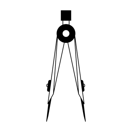 Geometric compass utensil vector illustration graphic design
