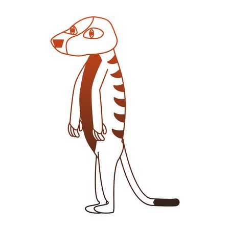 Meerkat wild animal cartoon vector illustration graphic design Stock Vector - 112049354