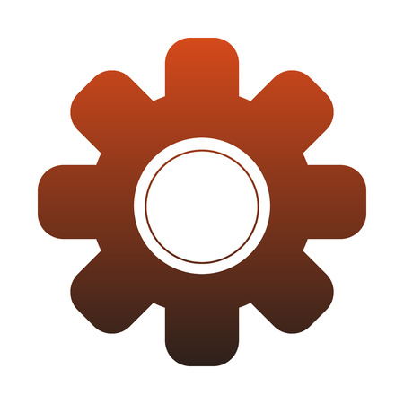 Gear machinery piece vector illustration graphic design