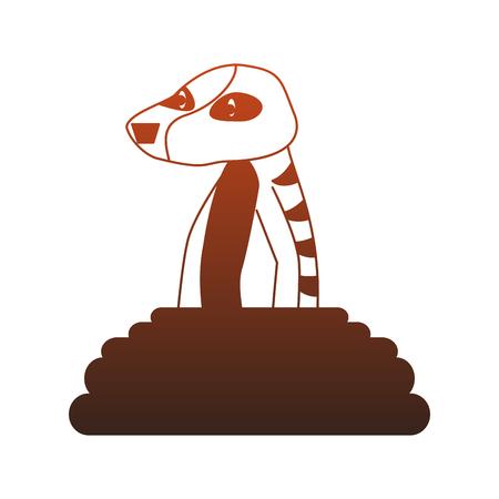Meerkat wild animal cartoon vector illustration graphic design Stock Vector - 112049379