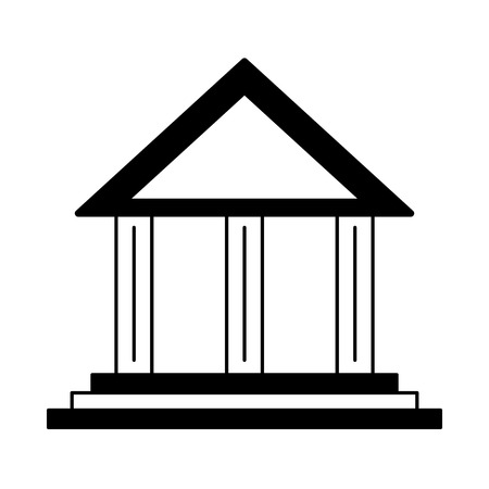Bank building symbol vector illustration graphic design 일러스트