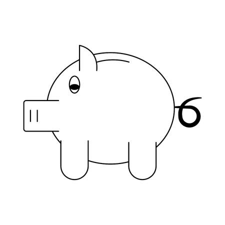 Piggy savings symbol vector illustration graphic design Standard-Bild - 111964359