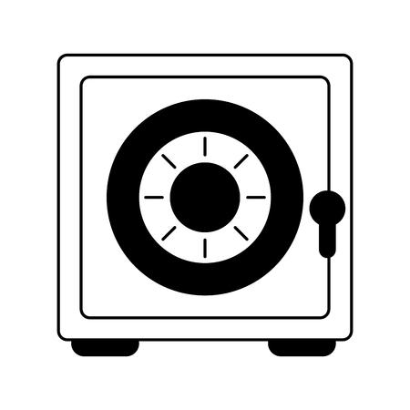 Conception graphique d'illustration vectorielle de symbole d'argent de sécurité de coffre-fort